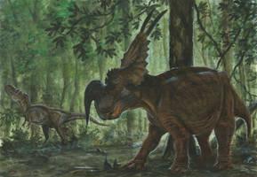 Horns05: Einiosaurus by tuomaskoivurinne
