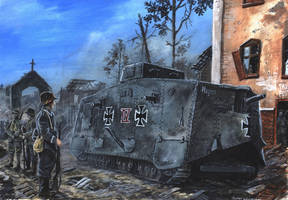 Sturmpanzerwagen A7V - Bapaume 1918 by tuomaskoivurinne