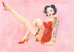 Betty Boop pin-up