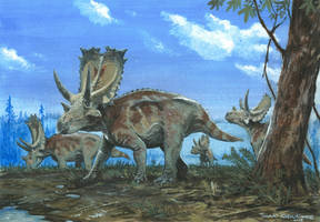 Horns17: Agujaceratops by tuomaskoivurinne