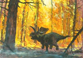Horns24: Arrhinoceratops by tuomaskoivurinne