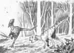 Dilong vs. Psittacosaurus