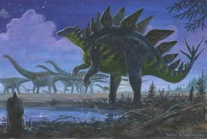 Stegosaurus ungulatus by tuomaskoivurinne