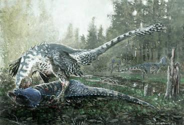 Dakotaraptor by tuomaskoivurinne