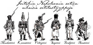 Few footsoldier types from the Napoleonic Wars era