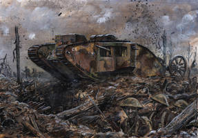 Mark I - Somme 1916 by tuomaskoivurinne
