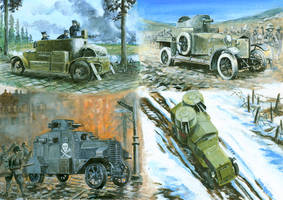 Some armoured cars from WW1 by tuomaskoivurinne