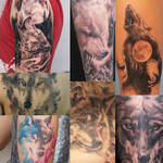 Wolves, wolves everywhere... tattoo compilation