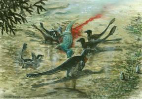 Utahraptors by tuomaskoivurinne