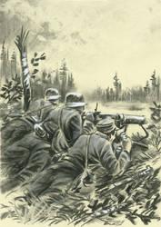 KK asemassa 1941 - MG in position 1941