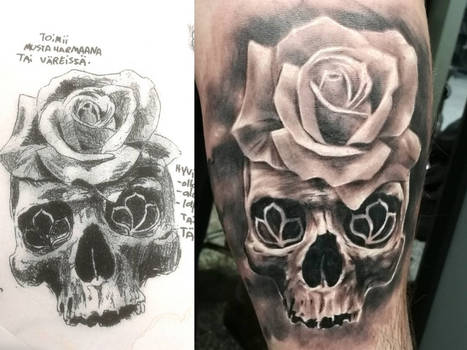 Wanna-do skull tattoo