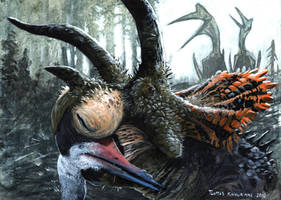 Triceratops, the nest robber version 2 by tuomaskoivurinne