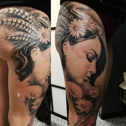 Fairly large portrait tattoo