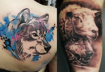 Tattooed wolves still everywhere..