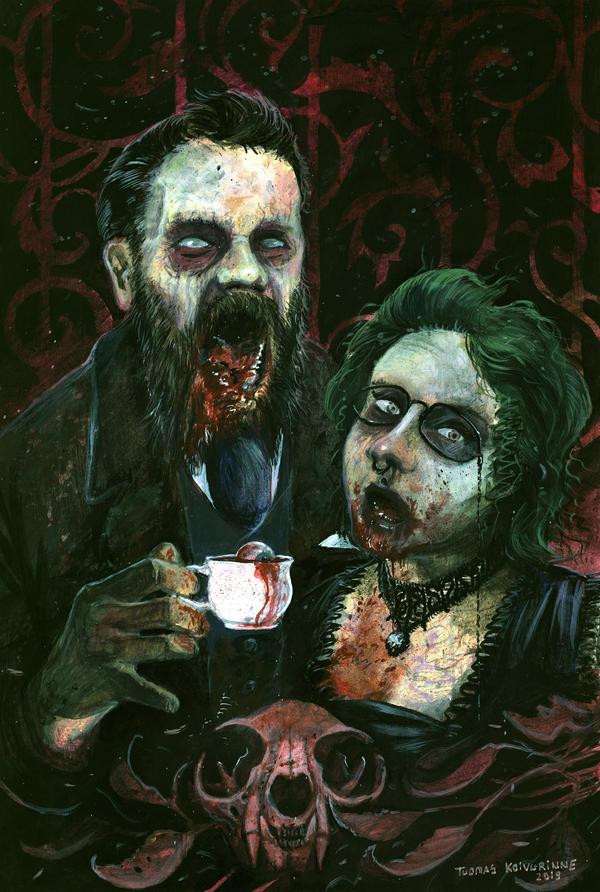 Victorian era zombie couple