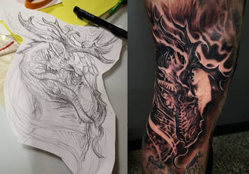 Guy with a dragon tattoo