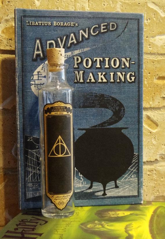 D coration bouteilles et flacons de potions pour un - Harry potter 8 et les portes du temps ...