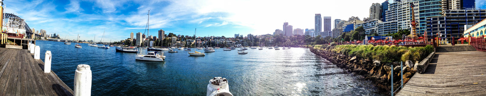 Panorama of Lavender Bay from Luna Park Sydney