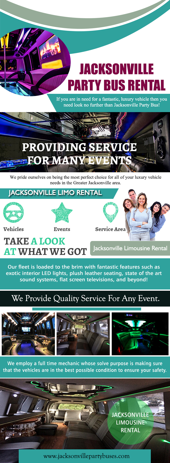 Jacksonville Party Bus Rental   Call (904) 601-090