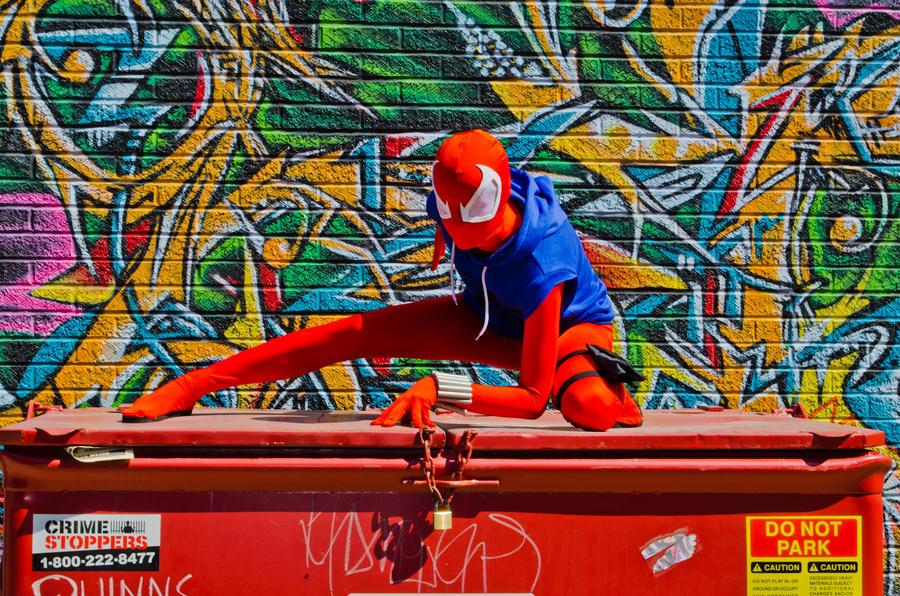 Scarlet Spider Photoshoot by mahha-gogogo