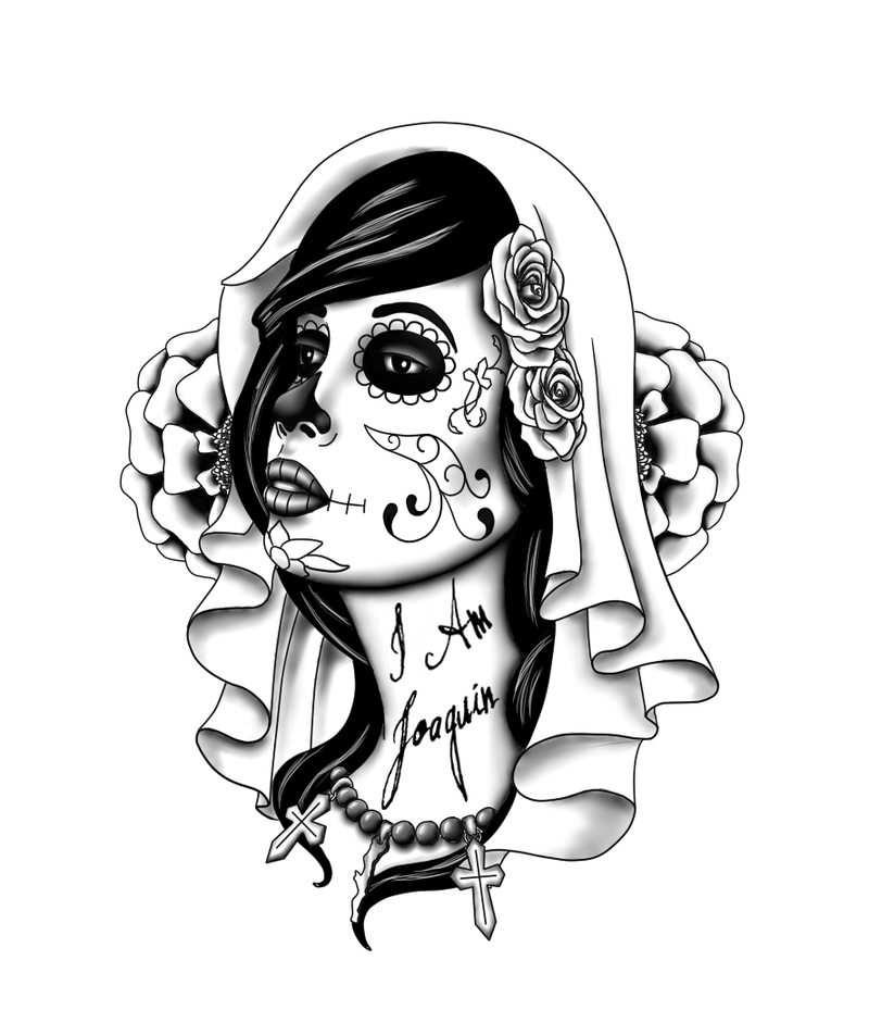 Day of the Dead Tattoos Stencils for Men