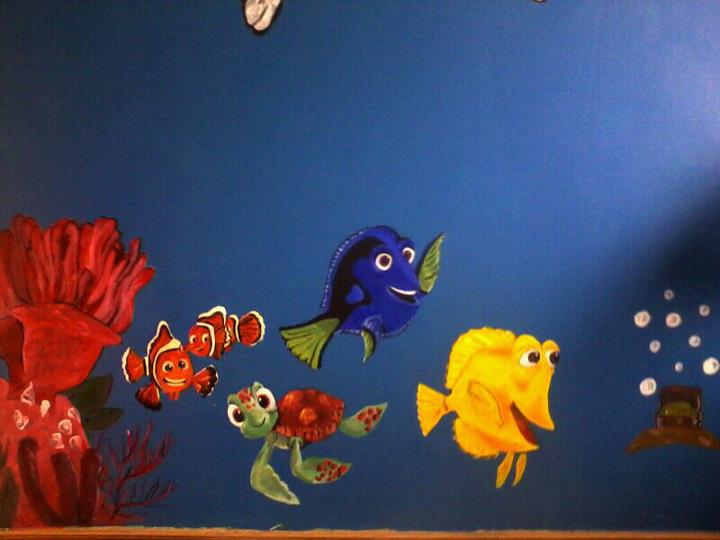 Finding Nemo Bedroom Wall By Malicious Magician