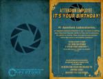 Aperture Science Birthday Card