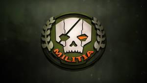 [1920 x 1080] Titanfall 3D Militia Logo by YumaKirosaki