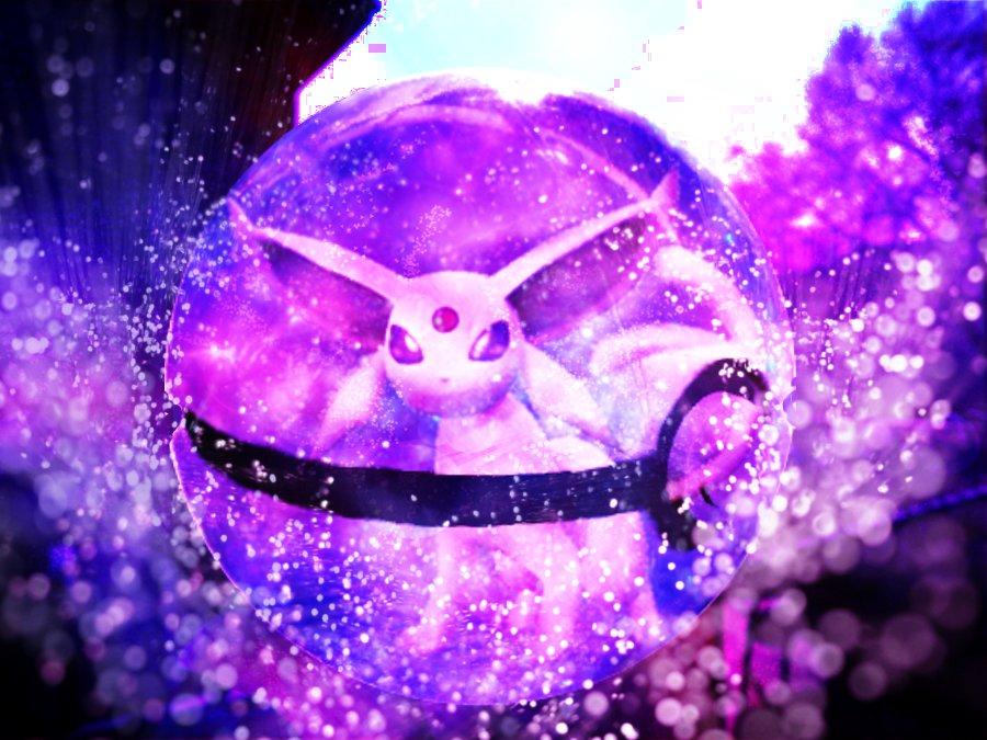 espeon in a pokeball by blazestar39503 on deviantart