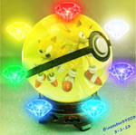 Super Sonics and chaos emeralds in pokeball