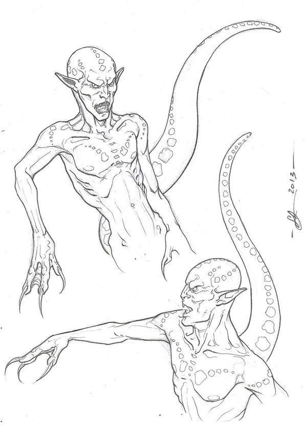 Creature- sketch- by DimRasha