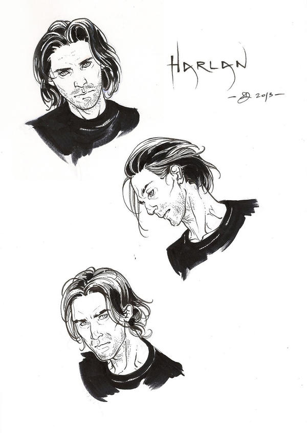 Harlan -ink- by DimRasha