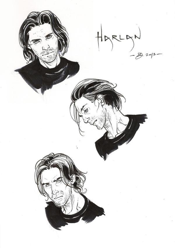 Harlan -ink- by DimRasha