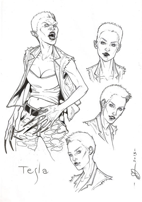 Tesla -ink- by DimRasha