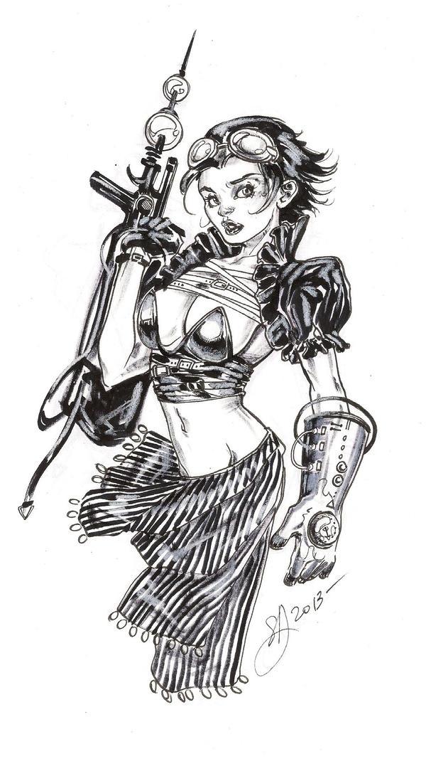 Steampunk girl by DimRasha
