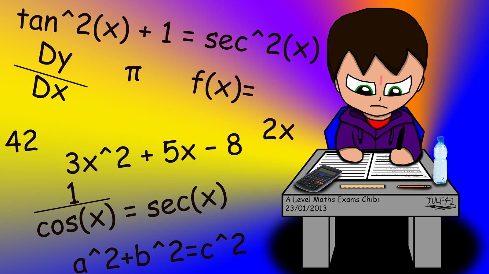 Wallpaper download exam -  A Level Maths Exam Chibi Wallpaper By Tulf42