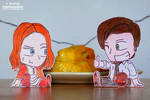 11th Doctor, Amelia Pond, Fish Fingers and Custard by tulf42