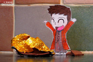 10th Doctor and the Chocolate Easter Egg by tulf42