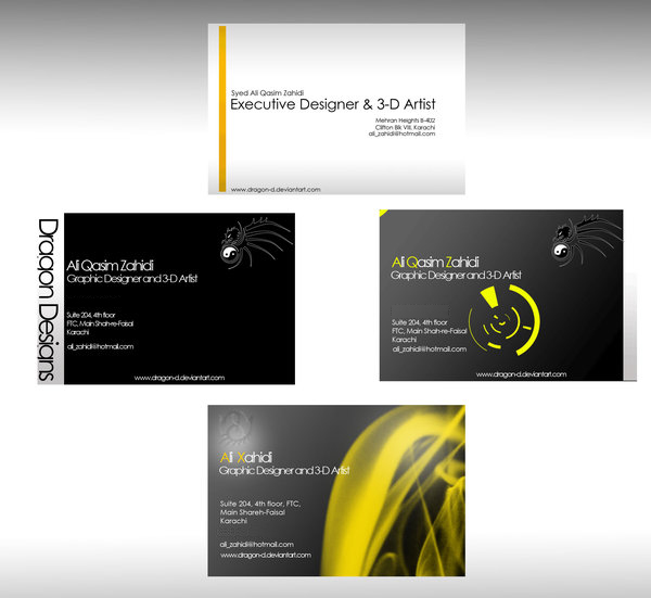 visiting card templates by dragon d