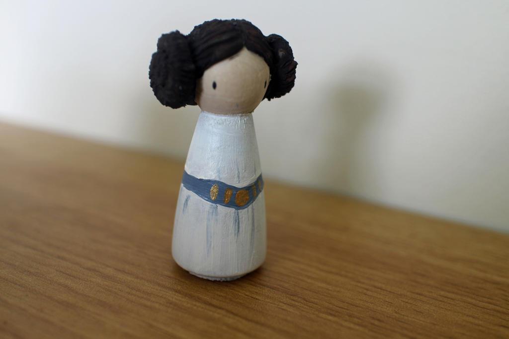 Princess Leia Peg Doll By Becki Moorcroft On Deviantart