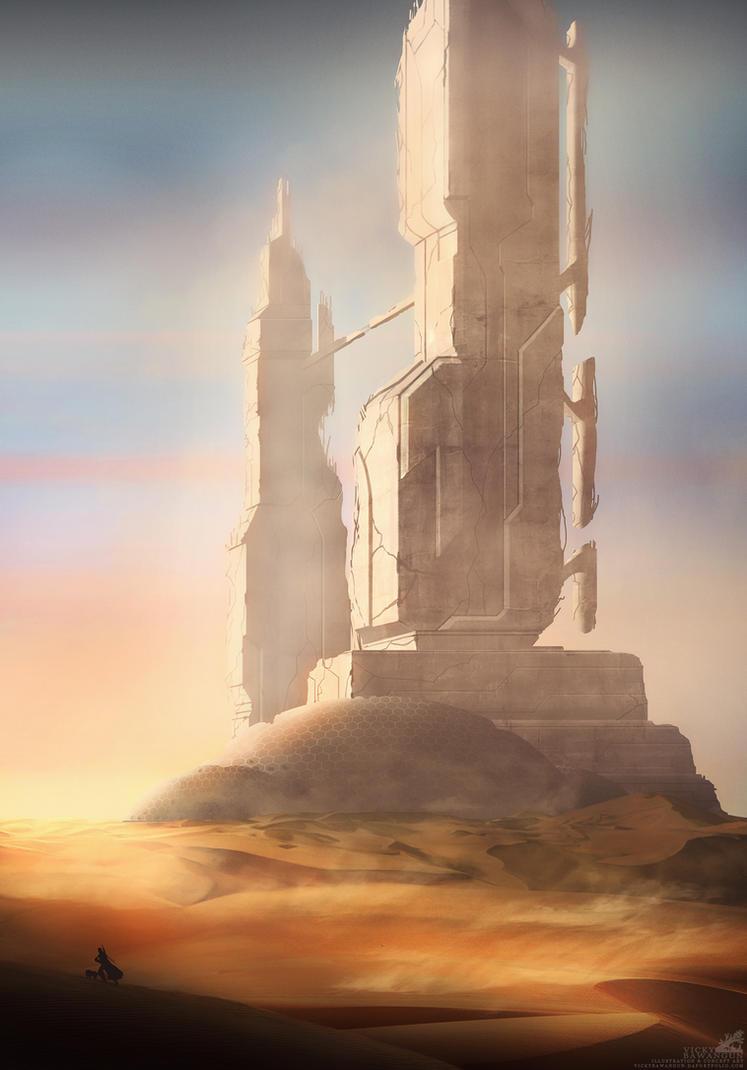 Desert Tower - Wanderer Pt.2 by Antares69