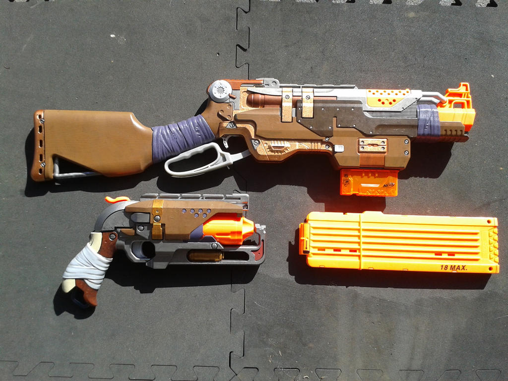 Custom Nerf - Hammershot and Slingfire by Cascadejackal ...