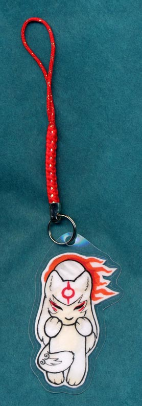 Amaterasu cellphone charm by zirio