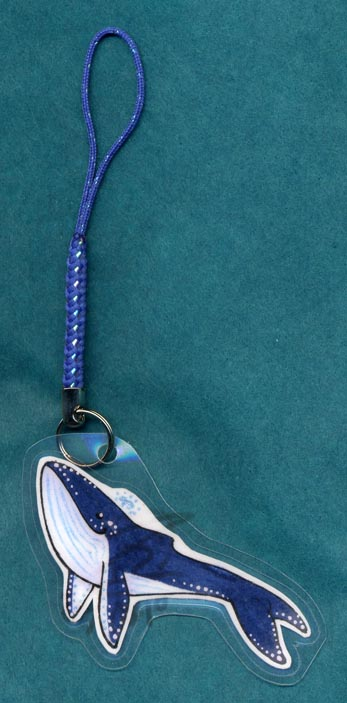 Whale cellphone charm by zirio