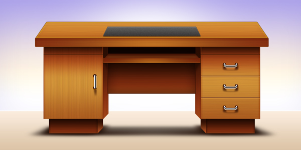 Computer office table design by graphicsfuel on deviantart for Table bureau design