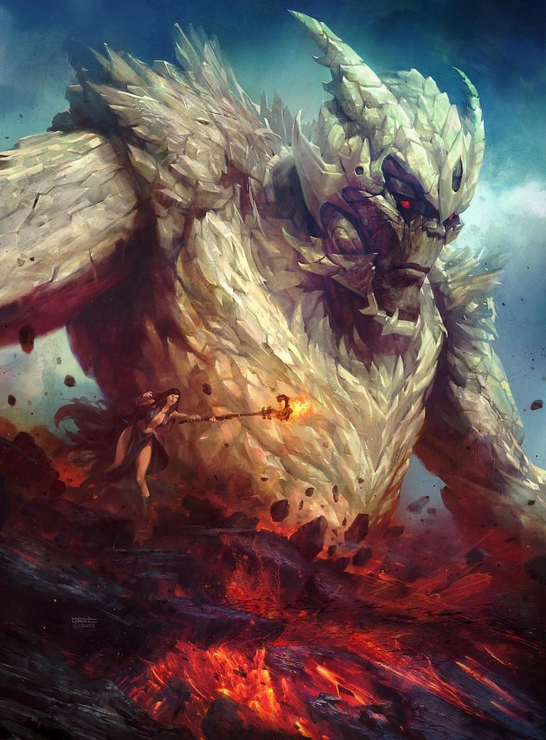 Volcanic summoning by MrDream