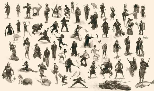 Figurative Sketch Compilation 002