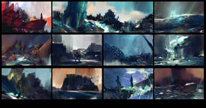 11 environment thumbnails, in 53 minutes