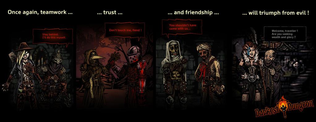 Teamwork, trust and friendship by DarkSteelPenguin