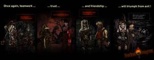 Teamwork, trust and friendship